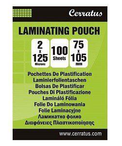 100-pack Lamineringsfickor CERRATUS 75x105mm