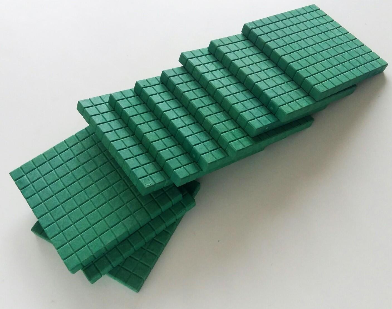 10 hundraplattor gröna i Re-Wood