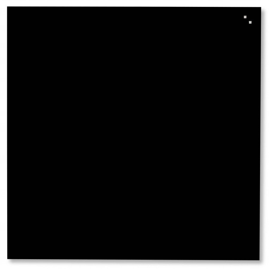 Glastavla Magnetisk 45x45 cm Svart
