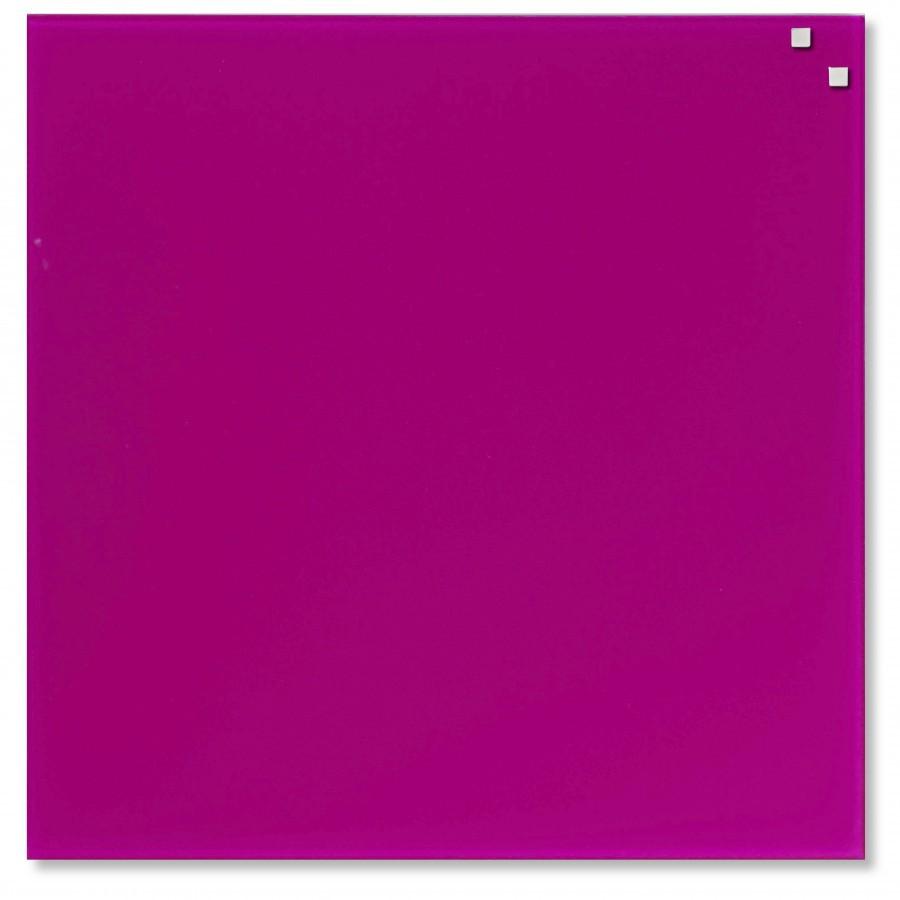 Glastavla Magnetisk 45x45 cm Rosa