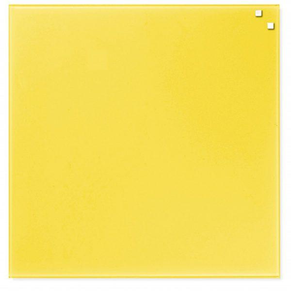 Glastavla Magnetisk 45x45 cm Gul