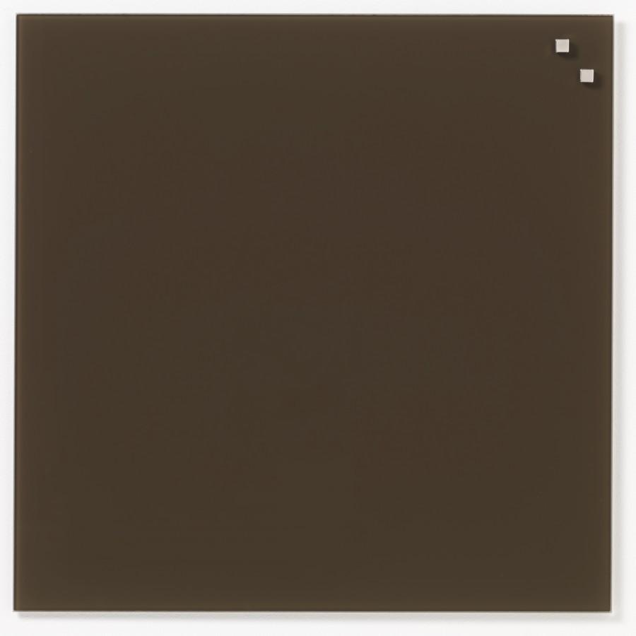Glastavla Magnetisk 45x45 cm Mörkbrun
