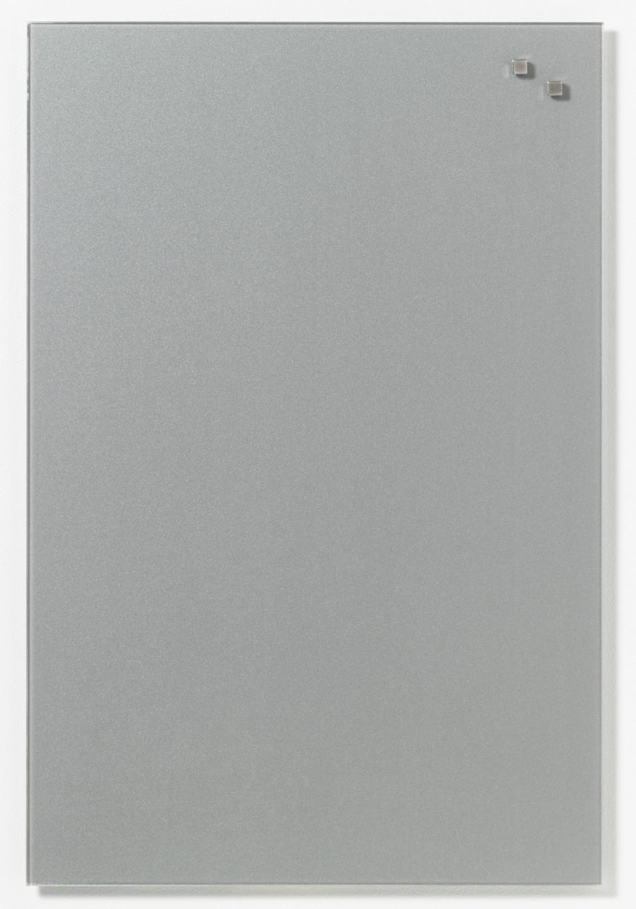 Glastavla Magnetisk 40x60 cm Silver