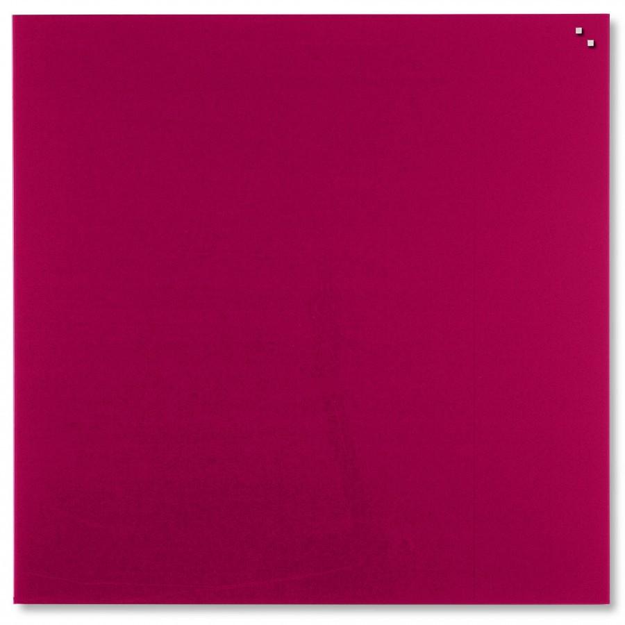 Glastavla Magnetisk 100x100 cm Röd