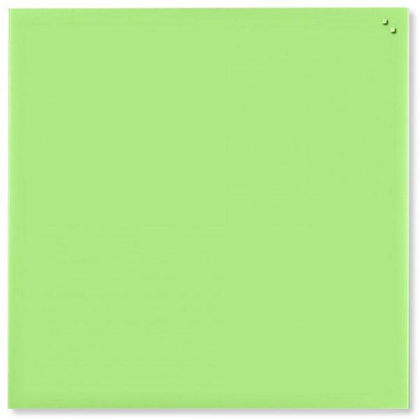Glastavla Magnetisk 100x100 cm Ljusgrön