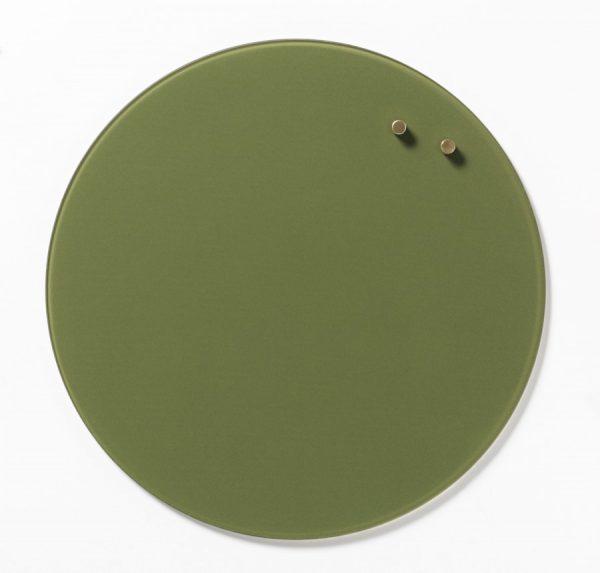 Glastavla magnetisk - Olivgrön
