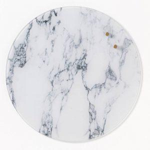 Glastavla magnetisk - Marmor - Ø35cm