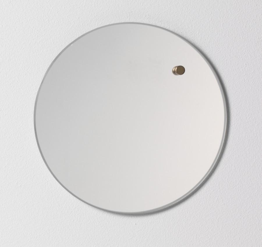 Glastavla magnetisk - Spegelglas Ø25cm