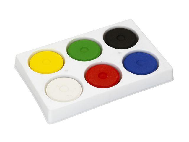 Färgblock i palett 44mm 6 färger