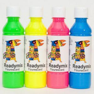 Readymix fluorescerande 250mlx4 färger