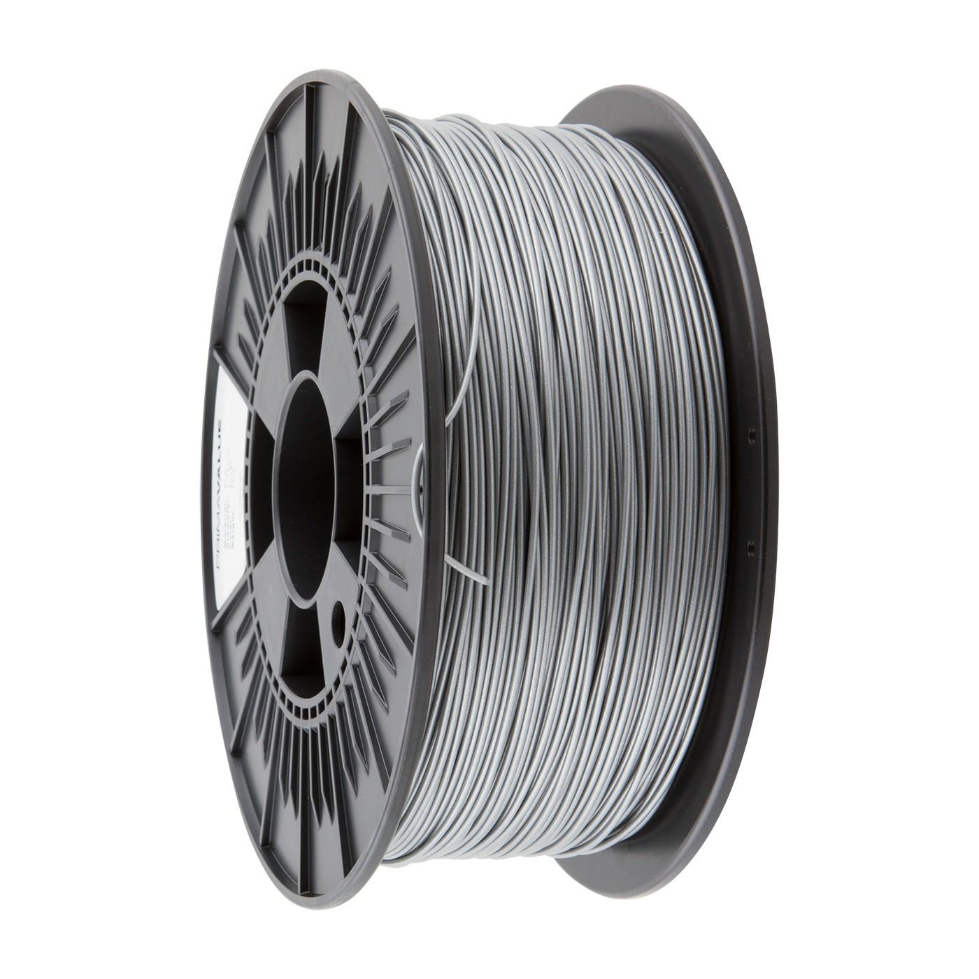 PrimaValue PLA Filament - 1.75mm - 1 kg spool - Silver