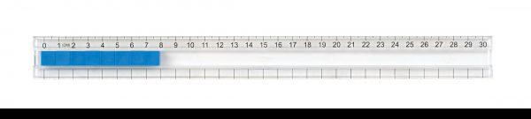 Linjal med skena 30 cm