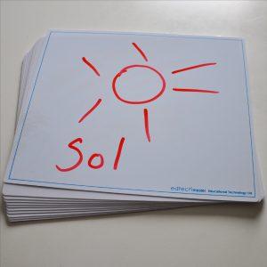 Blank tavla A4 6-pack