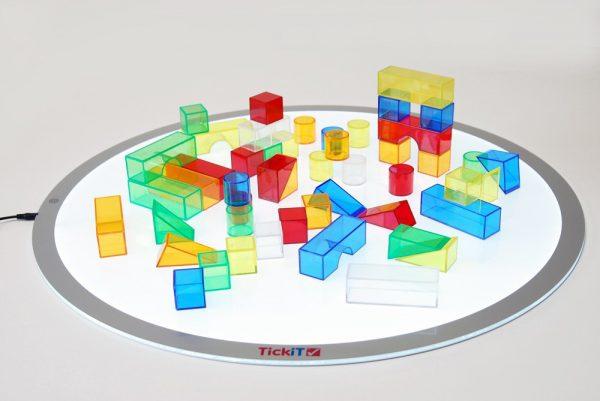 Byggklossar i genomskinlig plast 50-pack