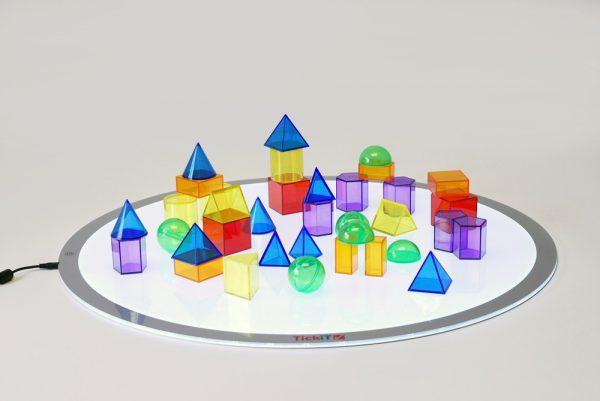 Geometriska figurer transparenta 36-pack