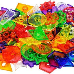 Knappar transparenta 144 pack +12 snören